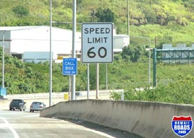 60 mph speed limit sign on H-3