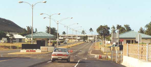 H-3 east end at entrance to Marine Corps base