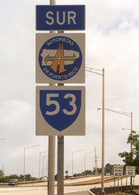 New-style Puerto Rico autopista route marker