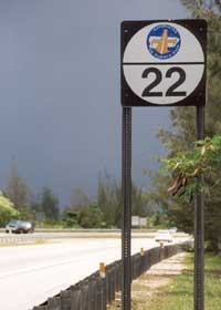 Old-style Puerto Rico autopista route marker