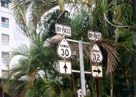 By-Pass 30 and 32 old route markers