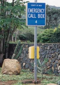 County-maintained roadside callbox