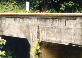 Hana Highway bridge with 1911 date engraved on side