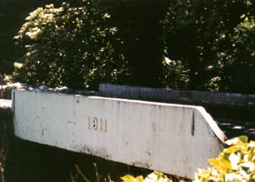Hana Highway bridge with 1911 date cast on side