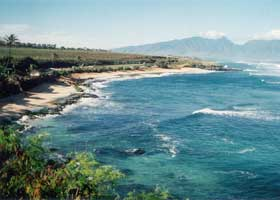 Hookipa Beach, a windsurfers' favorite
