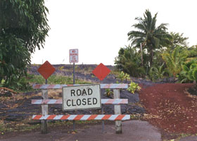 Lava closure of Red Road (county route 137)