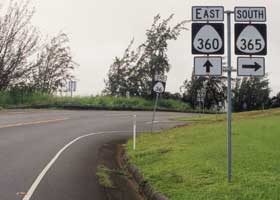 Hana Highway-Kaupakalua Road junction sign assembly