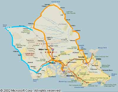 Hawaii Highways Oahu route list part 1