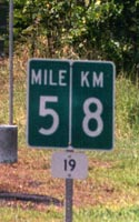 Combined mile 5/km 8 marker on route 19