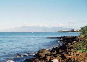 View of Molokai island, from Honoapiilani Highway