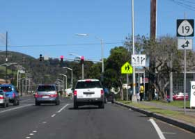 North end of state route 190 in downtown Waimea, at junction with state route 19
