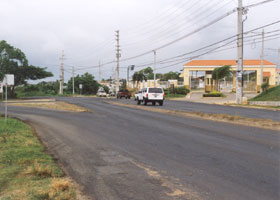Turnoff from PRI-3/PR-3 to Roosevelt Roads military base
