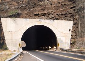 East portal of Olowalu Tunnel