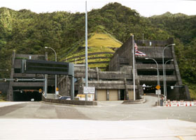 West portal of Interstate H-3 tunnels through Koolau Range