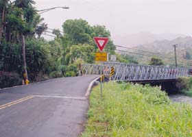 The other end of the reinforced Wainiha #2 bridge